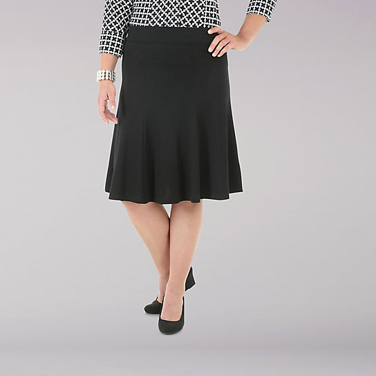Riders by Lee Twirl Ponte Knit Skirt