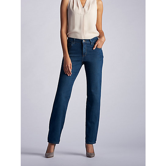 New Relaxed Fit Straight Leg Stretch Jean