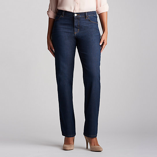 New Relaxed Fit Straight Leg Stretch Jean - Petite