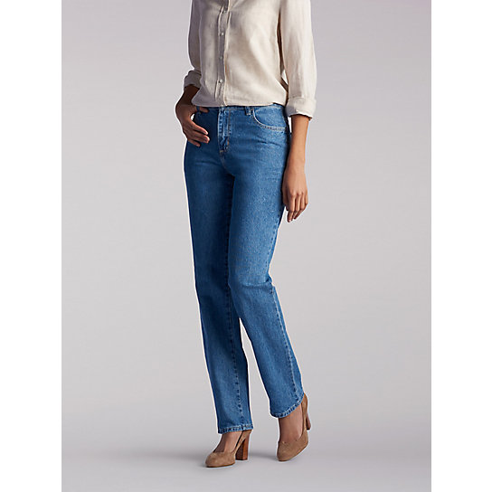 100% Cotton Relaxed Fit Straight Leg Jean