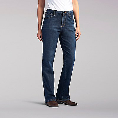 Relaxed Fit Bootcut Jean - Petite