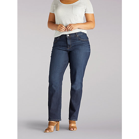 New Relaxed Fit Straight Leg Stretch Jean - Plus