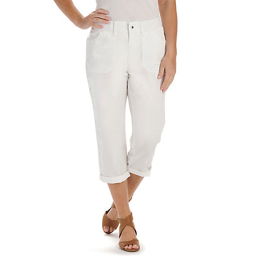 Relaxed Fit Lila Capri