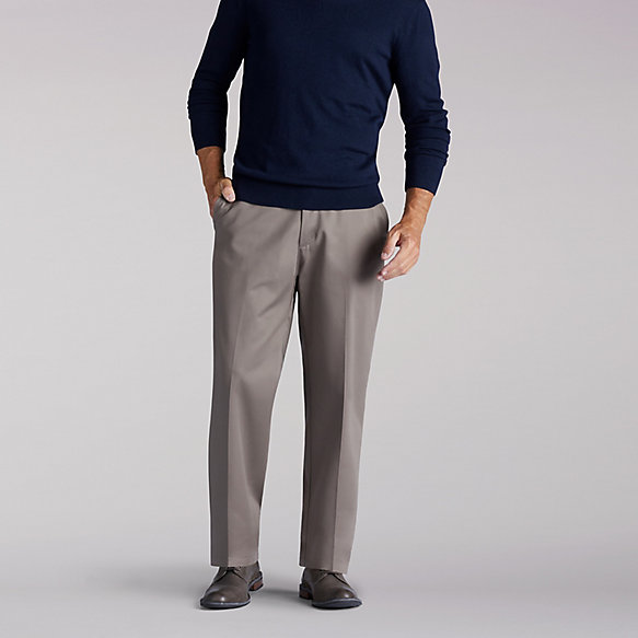 No Iron Flat Front Pants