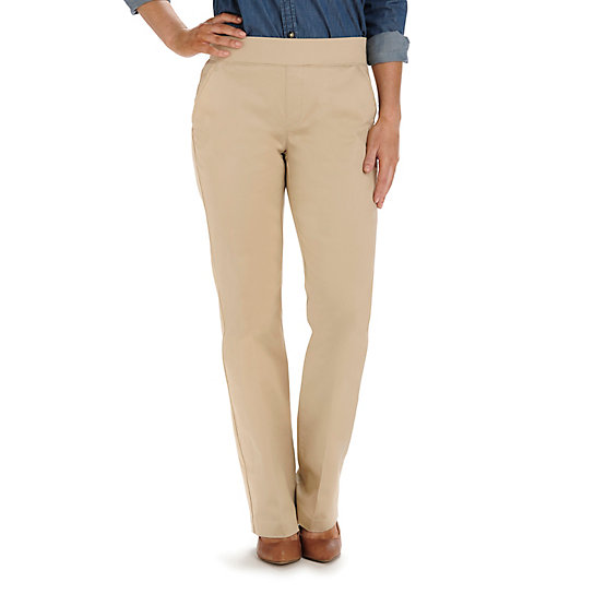 Natural Fit Pull On Dana Barely Bootcut Pant - Petite