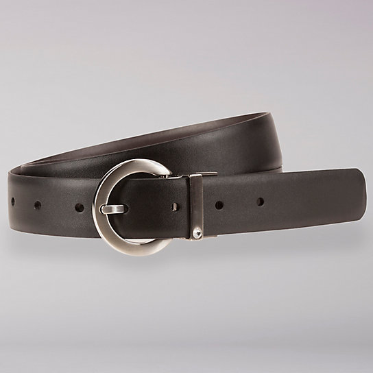 Reversible Black & Brown Leather Belt - Women