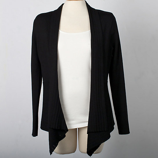 Long Sleeve Fall Drape Front Cardigan - Plus