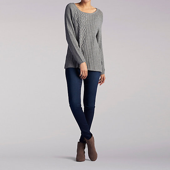 Cable Braid Front Pullover Sweater