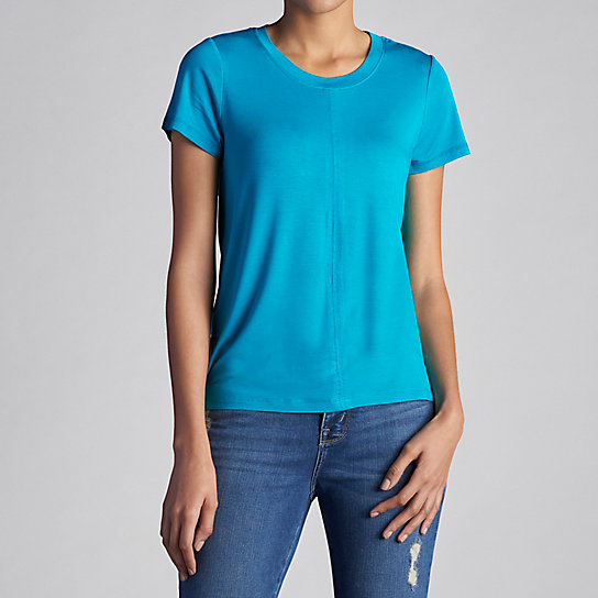 Short Sleeve Scoop Neck Hi Low Tee