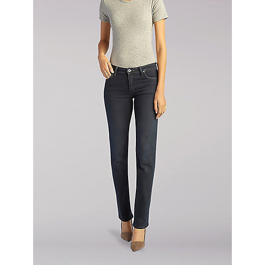 EU LEE - Emylyn Mid-Rise Slim Straight Fit Jeans