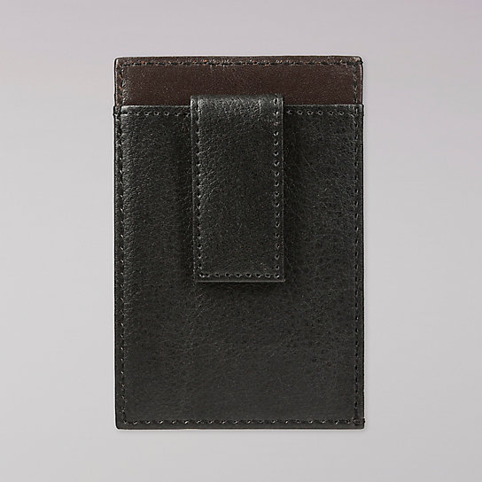Pebble Front Leather Pocket Clip - Unisex