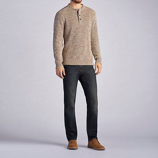 3 Botton Crew Neck Sweater