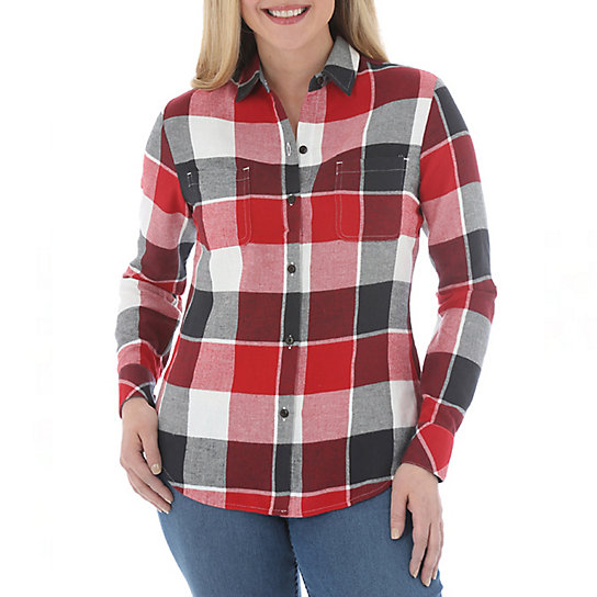 Riders by Lee Mariah Long Sleeve Plaid Shirt - Plus
