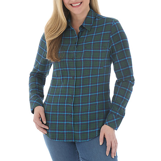 Riders by Lee Mariah Long Sleeve Plaid Shirt - Misses