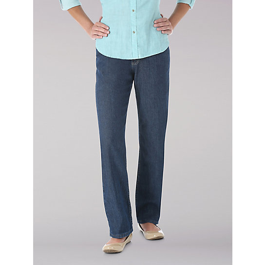 Lee Riders Womens Relaxed Fit Straight Leg Jeans