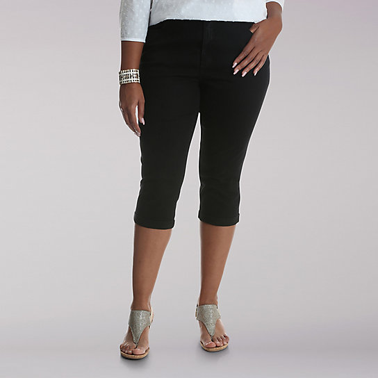 Lee Riders Midrise Straight Leg Cuffed Capri