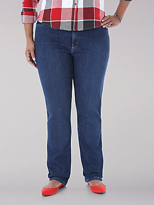 Women's Lee Riders Classic Fit Straight Leg Jean (Plus)