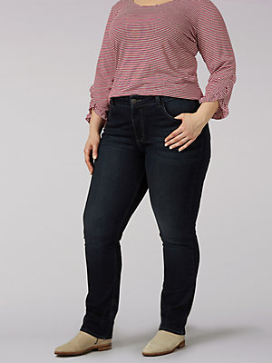 Women's Lee Riders Mid Rise Straight Leg Jean(Plus)