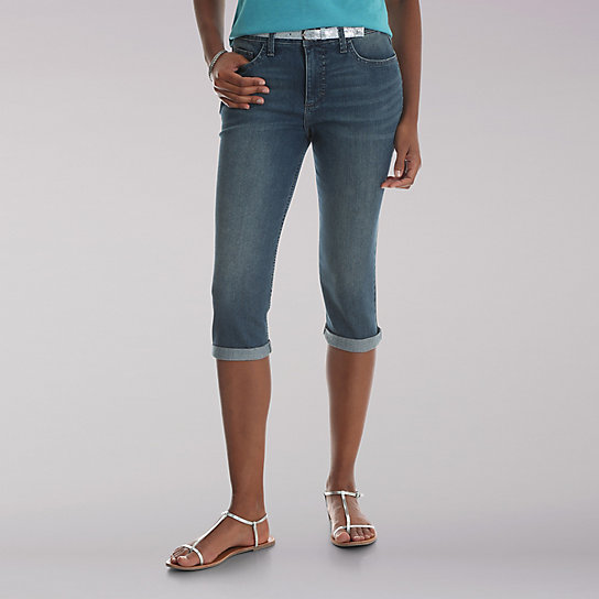 "Riders® by Lee 19"" Belted Cuff Capri"