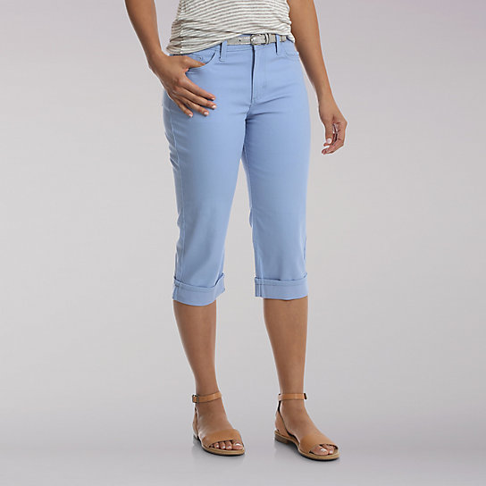 "Lee Riders Cuffed 19"" Denim Capri"