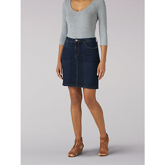 Women's Lee Riders Shape Illusions Seamed Front Skirt