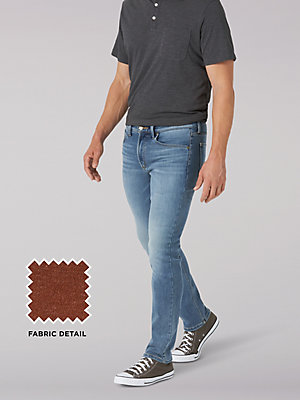 Men's Brushed Back Straight Tapered Jean
