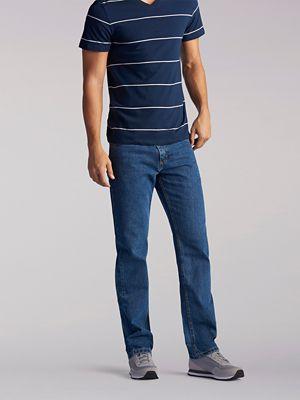 NWT LEE Men/'s Regular Fit DENIM JEANS Straight Leg Classic 20089 BLUE GREY BLACK