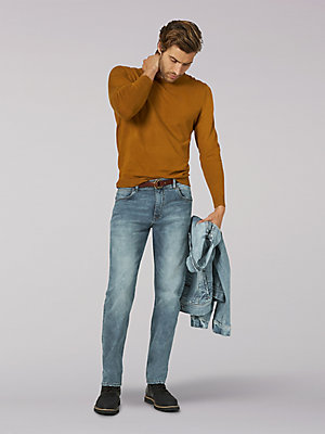 Men's Vintage Modern Regular Fit Slim Tapered Leg Jean