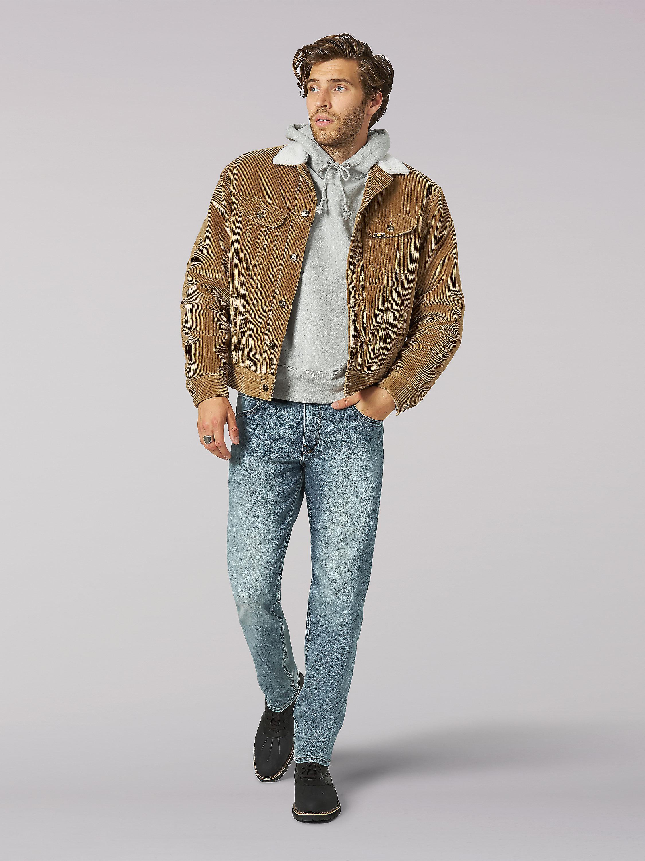 Vintage Modern Sherpa Lined Corduroy Jacket