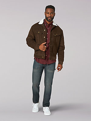 Men's Vintage Modern Sherpa Lined Jacket