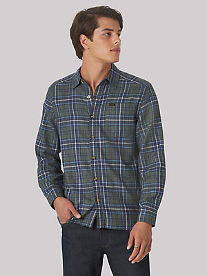 Men's Heritage Flannel Plaid Button Down Shirt