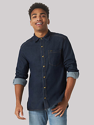 Men's Heritage Solid Button Down Shirt