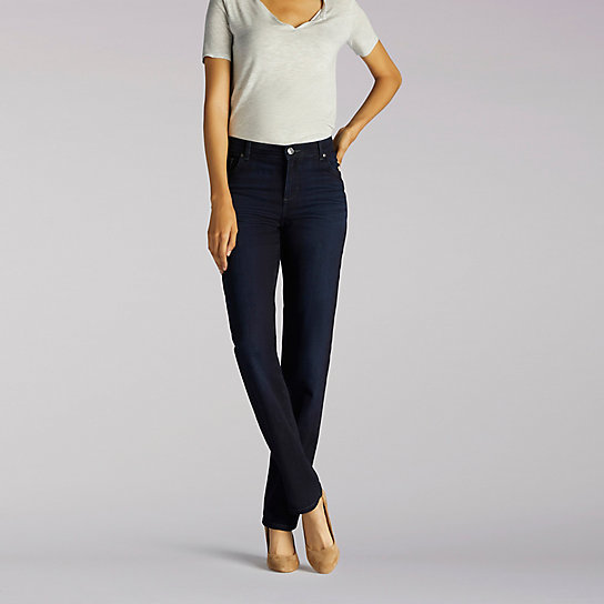 Stretch Relaxed Fit Straight Leg Jean - Petite