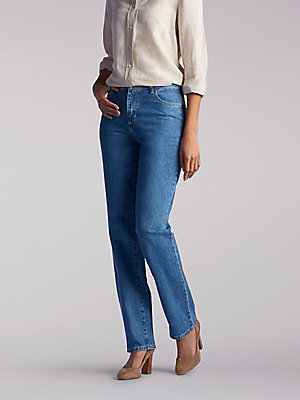 Women's 100% Cotton Relaxed Fit Straight Leg Jean