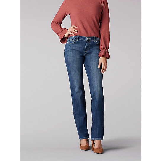 Stretch Relaxed Fit Straight Leg Jean