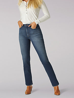 Women's High Rise Relaxed Fit Straight Ankle Jean