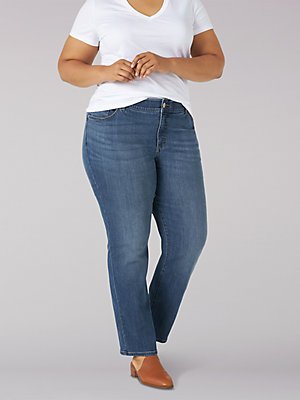 Women's Flex Motion Regular Fit Straight Leg Jean (Plus)