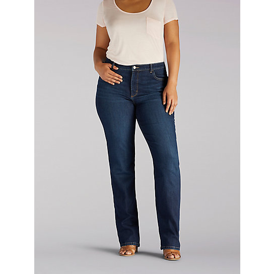Instantly Slims Relaxed Fit Straight Leg Jean - Plus