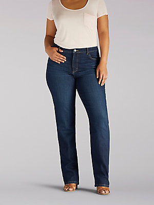 Women's Instantly Slims Relaxed Fit Straight Leg Jean Classic Fit (Plus)