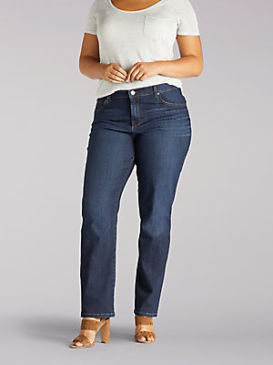 Women's Stretch Relaxed Fit Straight Leg Jean (Plus)