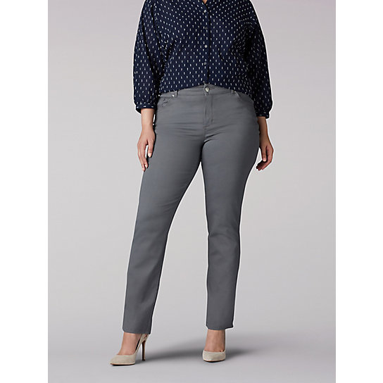 Stretch Relaxed Fit Straight Leg Jean - Plus