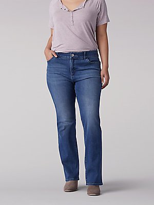 Women's Flex Motion Regular Fit Bootcut Jean (Plus)