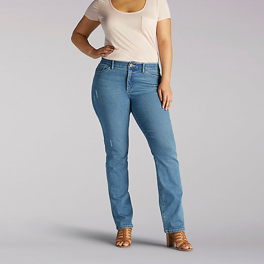 Flex Motion Regular Fit Straight Leg Jean - Plus