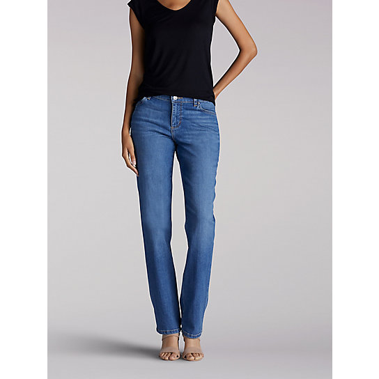 Women's Stretch Relaxed Fit Straight Leg Jean - Tall