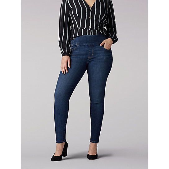 Sculpting Slim Fit Slim Leg Pull On Jean - Plus