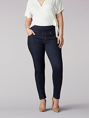 Women's Sculpting Slim Fit Skinny Pull-On Jean (Plus)