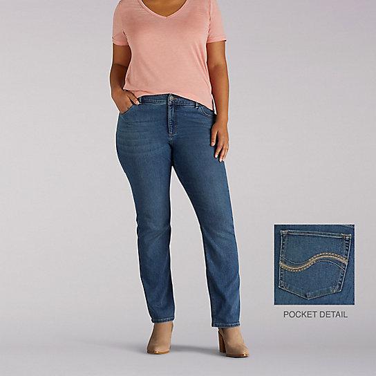 3cc52a1a5e266 Secretly Shapes Regular Fit Straight Leg Jean - Plus