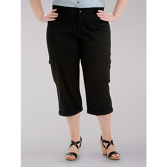 Relaxed Fit Austyn Cargo Capri - Plus