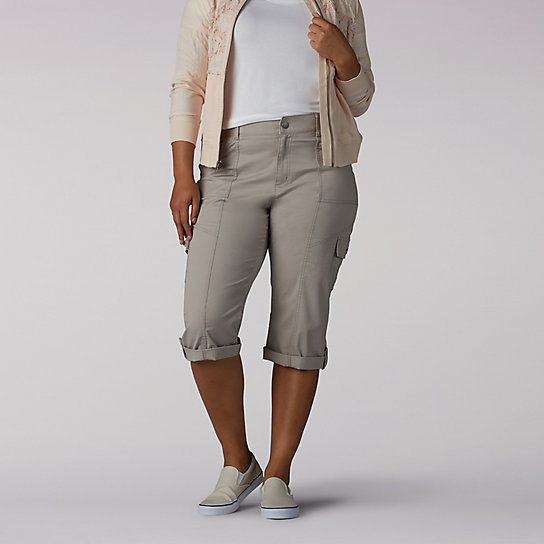 Relaxed Fit Skye Knitwaist Cargo Skimmer - Plus
