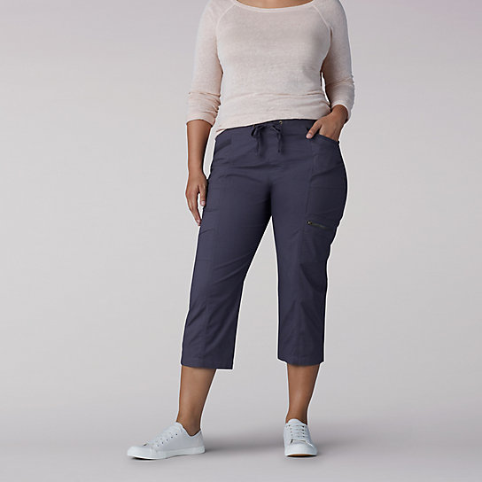 Relaxed Fit Margeaux Cargo Capri - Plus